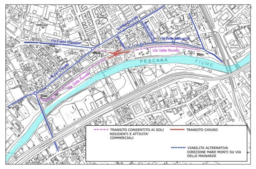 Mobilità ridotta in via Valle Roveto. Apre cantiere del Ponte Nuovo