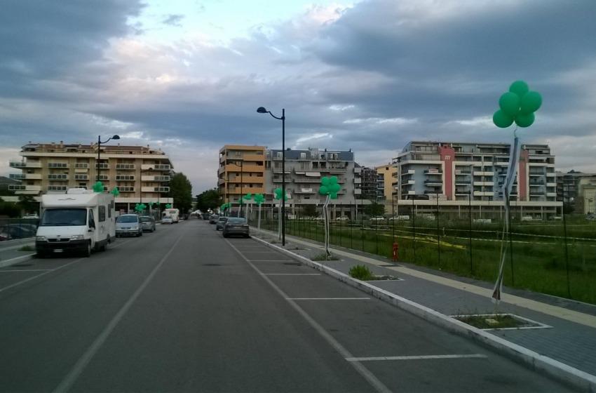 """Flash mob in viale Inghterra per una Montesilvano più """"green"""""""