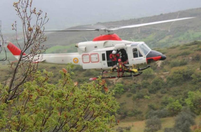 Gran Sasso. Alpinista viterbese recuperato con l'elicottero tra le rocce