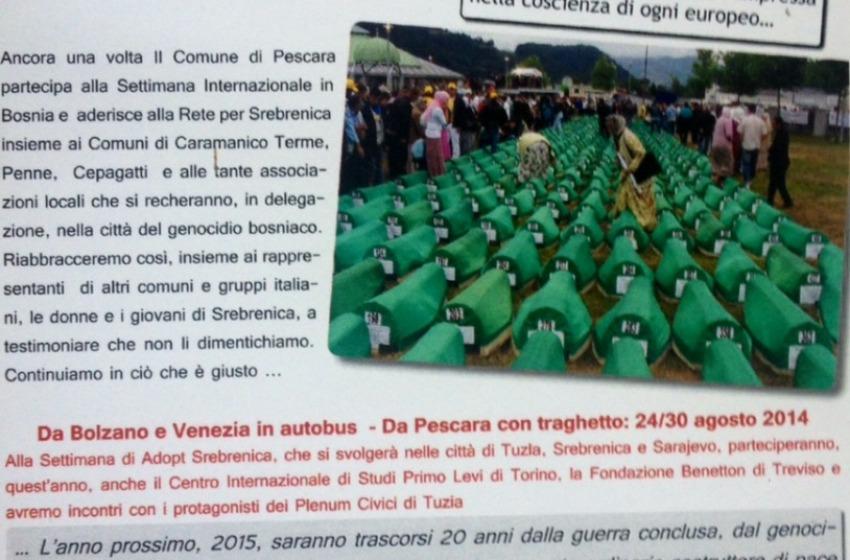 Progetto Adopt Srebrenica: il Comune di Pescara ci sarà