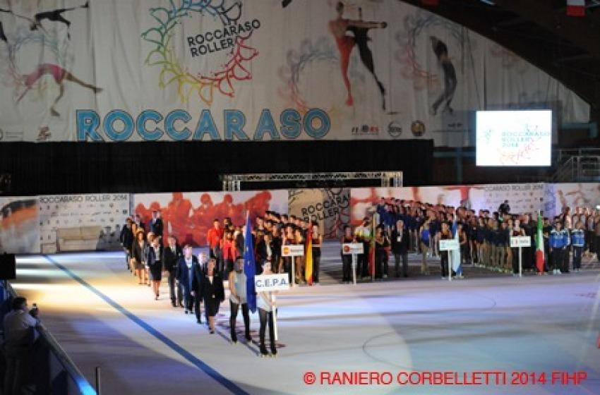 Roccaraso, cerimonia show per Europei di Pattinaggio a Rotelle