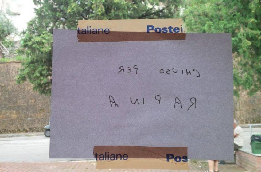 Rapina all'ufficio postale di Rapino. Recuperate tutte le armi