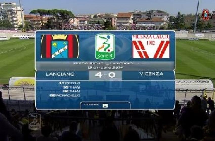 "La Virtus Lanciano travolge il Vicenza con 4 reti al ""Biondi"""