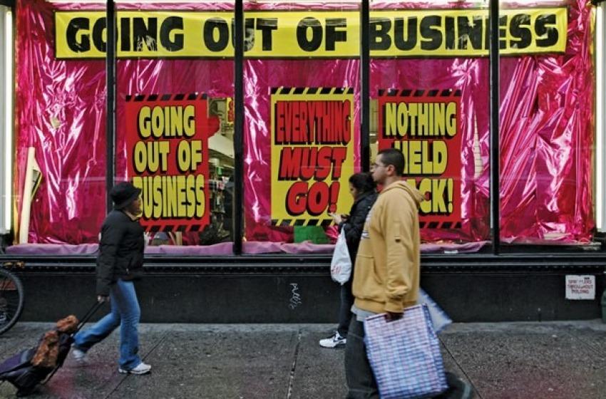 Economia. Trimestre nero