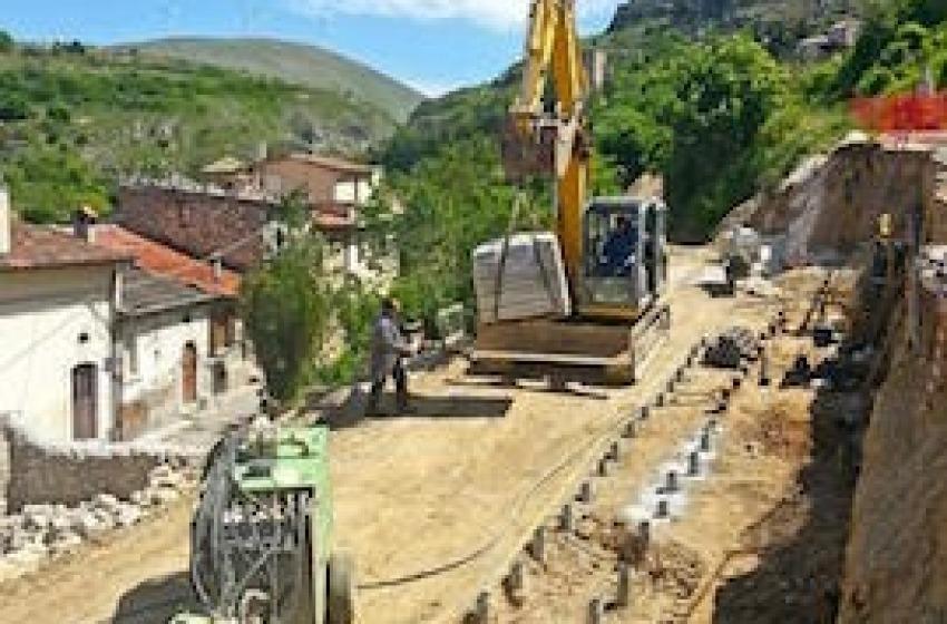 Dissesto idrogeologico a Pescina, messa in sicurezza via Umbrone