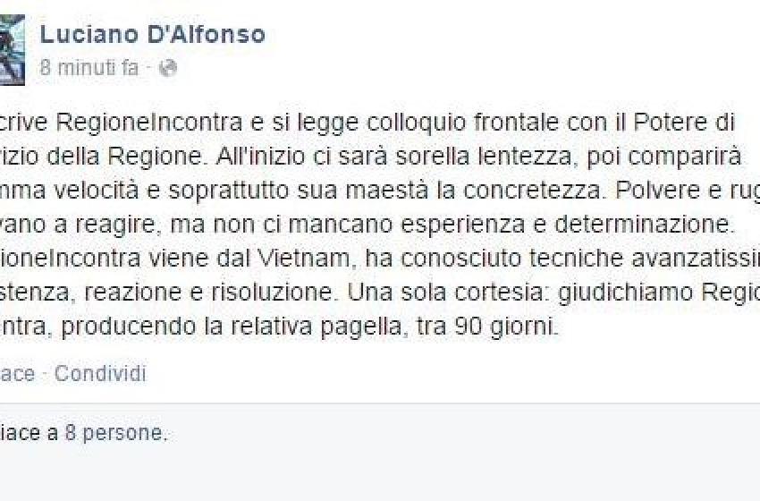 Goood Moooorning Abruzzo! D'Afonso supercazzola (un pò) su facebook