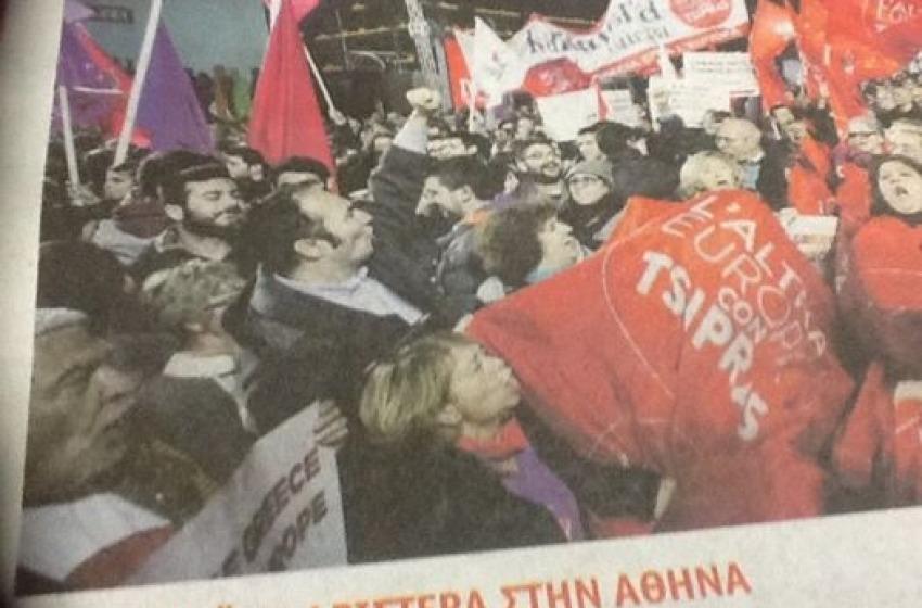 Ad Atene vince Tsipras ed Acerbo finisce sui giornali di Syriza