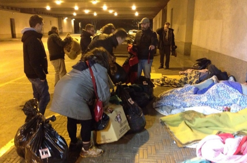 Pescara, coperte ai senzatetto da Forza Nuova