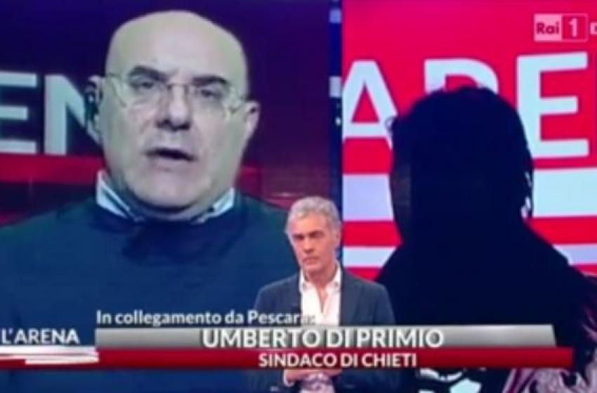 """""""Vada sempre accompagnata"""": Di Primio querela Giletti per la frase finale a L'Arena"""