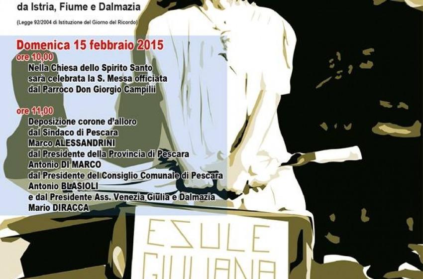 Giorno del Ricordo a Pescara: domenica 15 la celebrazione