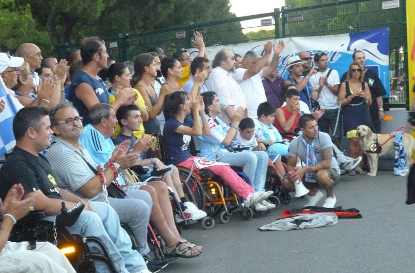 Ai tifosi disabili del Pescara girano incredibilmente le ruote
