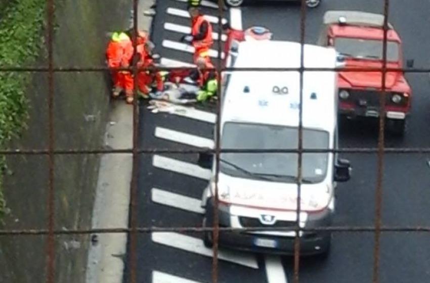 Incidente sull'A14. Due persone trasportate in ospedale con l'elicottero