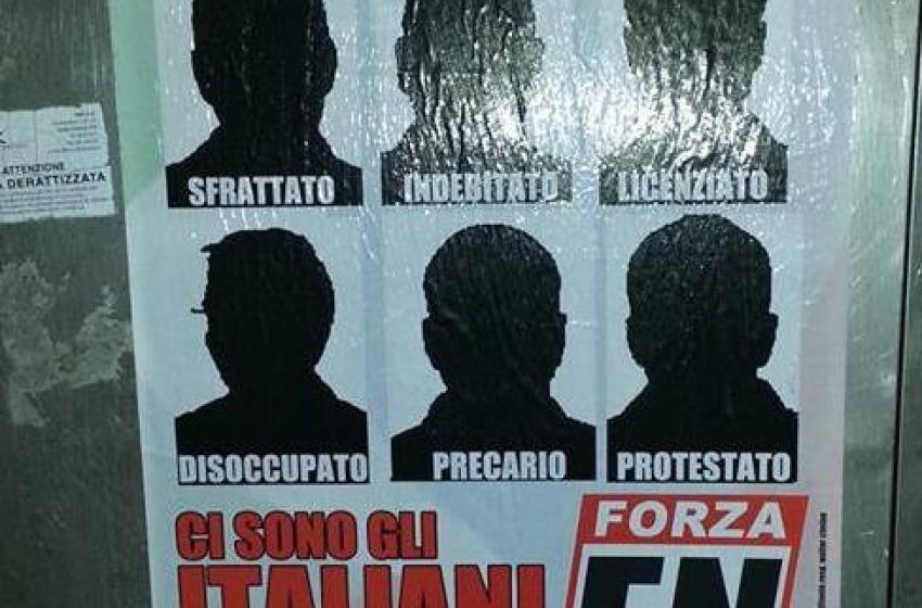 A Montesilvano spuntano manifesti contro i rifugiati politici