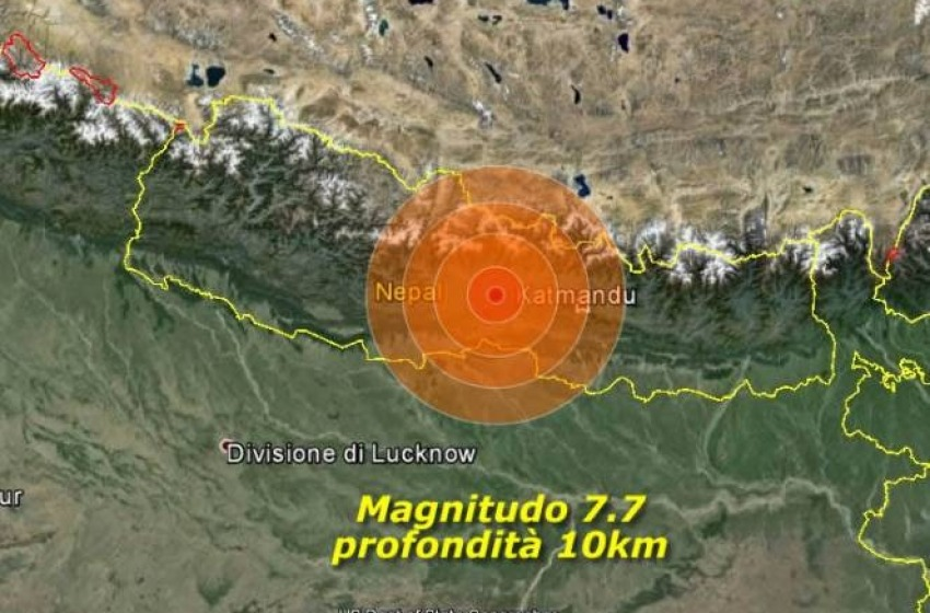 Terremoto in Nepal, L'Aquila dona 10.000 euro