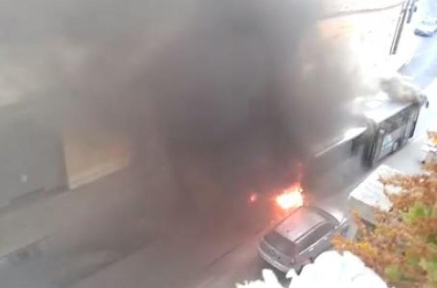 Chieti: momenti di paura per un pullman Satam andato a fuoco