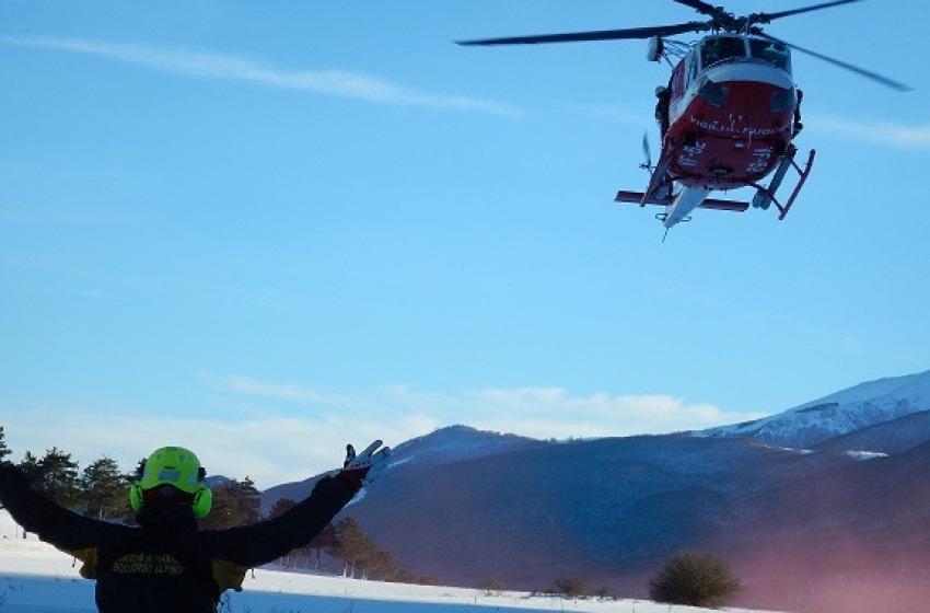 Escursionista scivola sul Gran Sasso, soccorso in alta quota