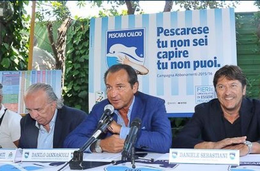 Martedì 13 parte la campagna abbonamenti della Pescara Calcio