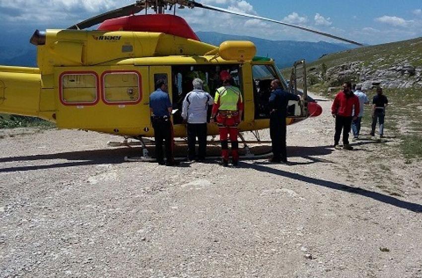 Escursionista tedesca recuperata con elicottero sul Corno Grande
