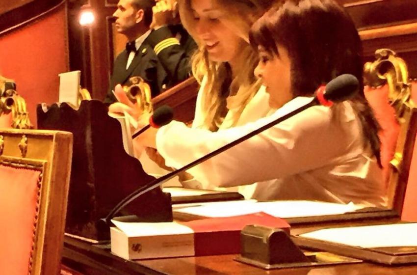 La RinasciMinistra si difende in Parlamento e Stefy P. la va subito a rincuorare