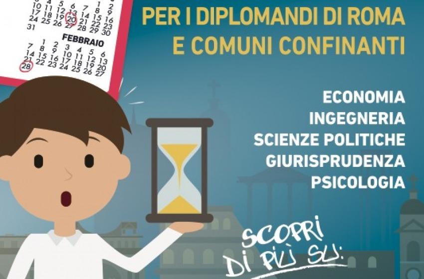 Tornano i Click Days dell'Università Niccolò Cusano. Cento borse di studio a disposizione