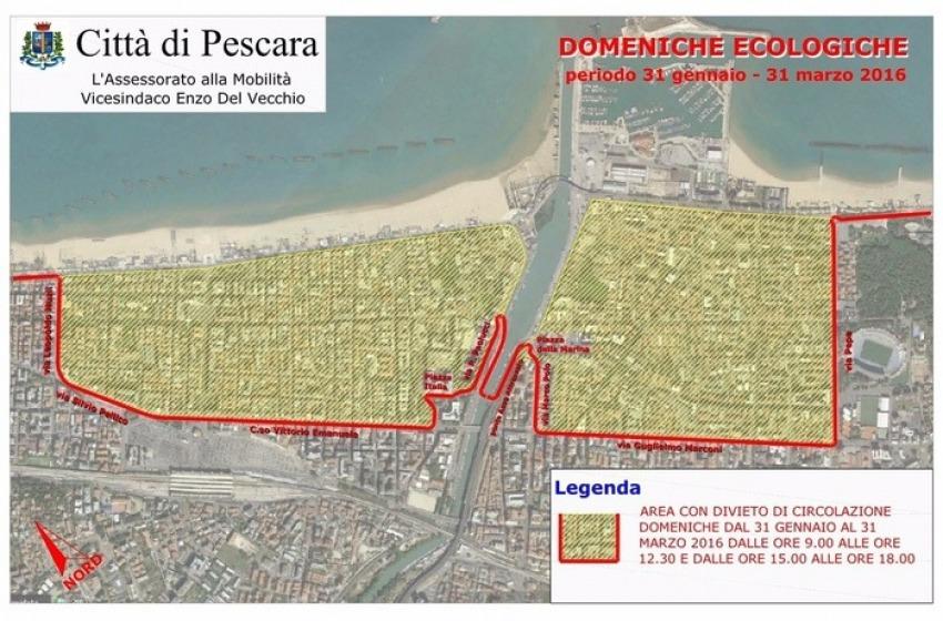 Smog a Pescara, dopo le targhe alterne ecco le domeniche ecologiche