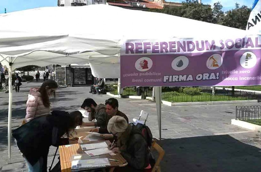 Referendum sociali, Italicum e lavoro: parte la raccolta firme