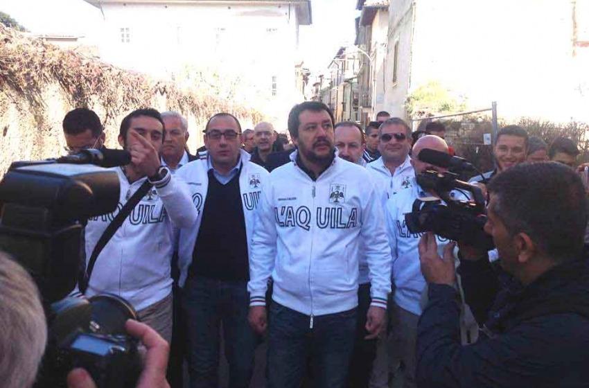 """Salvini: """"La ricostruzione è lenta, ma quante vite ci mettono?"""""""