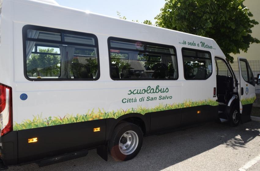 San Salvo, arrivano i nuovi scuolabus a metano