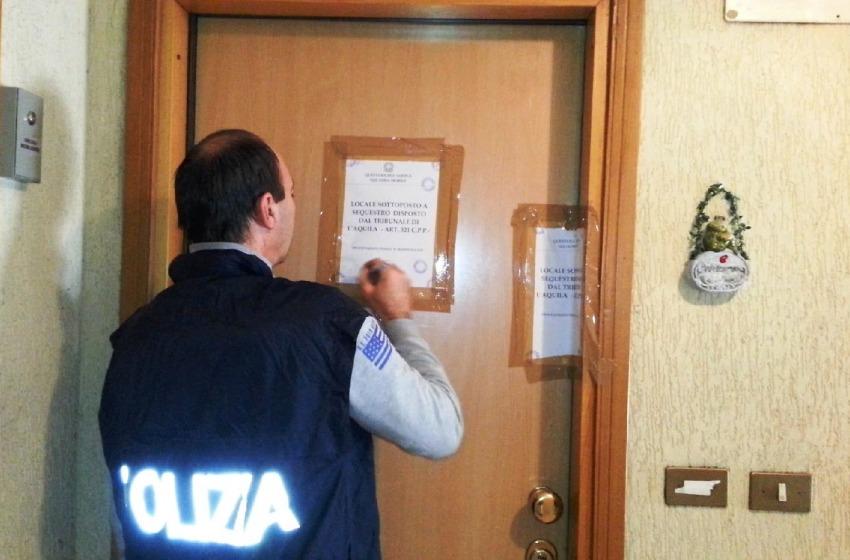 Chiusa casa di appuntamento in centro a L'Aquila. Guarda il video della polizia