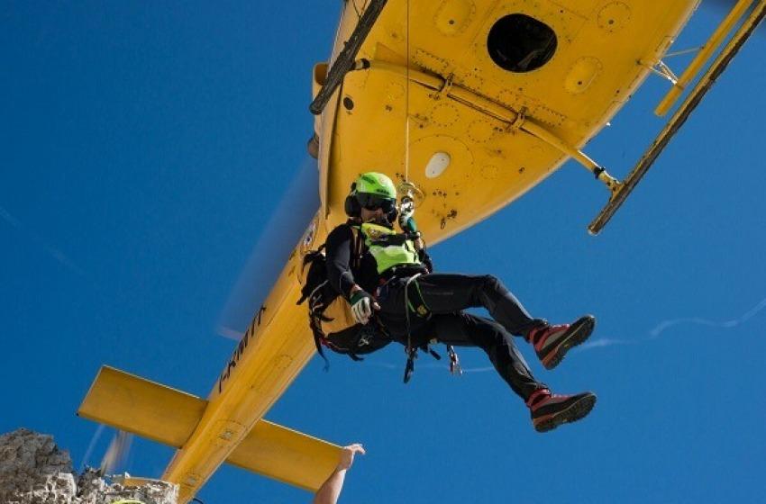 Altro salvataggio sul Gran Sasso: escursionista donna recuperata con l'elicottero