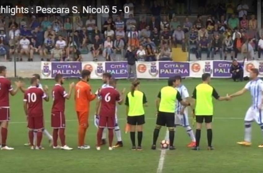 Il Pescara di Massimo Oddo ha superato 5-0 il S. Nicolo' Teramo (serie D)