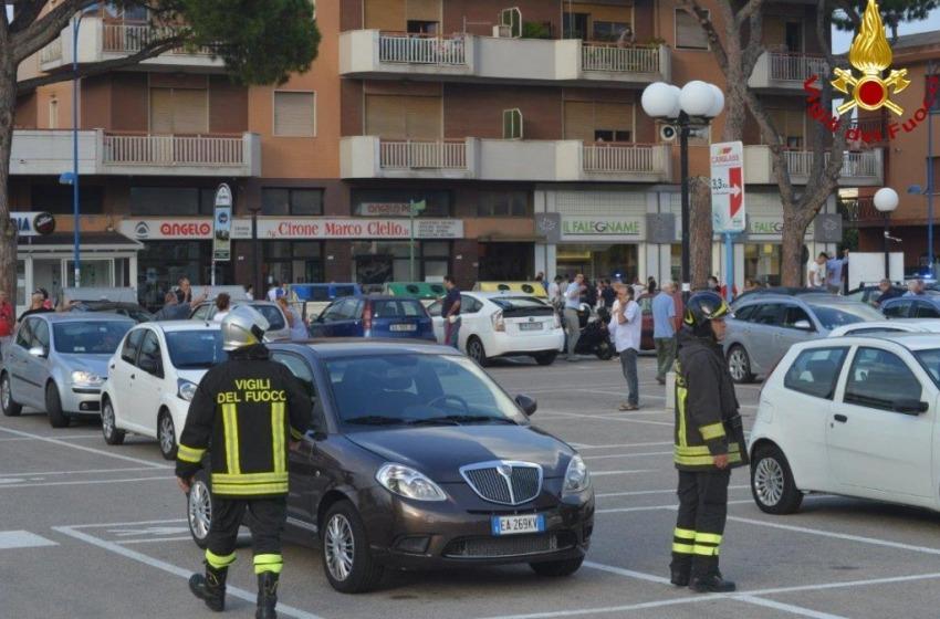 Artificieri in azione a Montesilvano per una valigia sospetta abbandonata da Mc Donald's