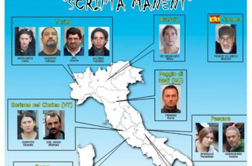 Terrorismo e anarchia: resta in carcere coppia del Pescarese coinvolta nell'inchiesta