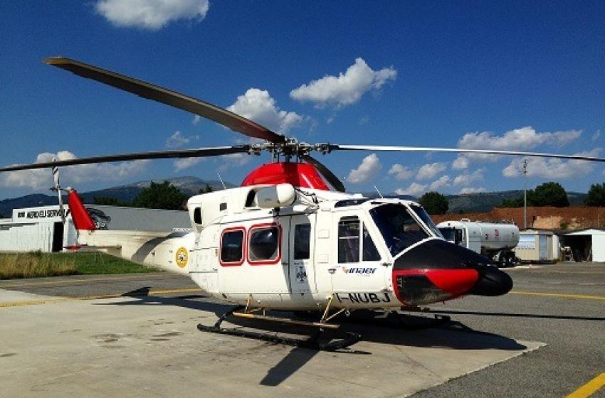 Elicottero 118 caduto nell'aquilano, sette persone a bordo.
