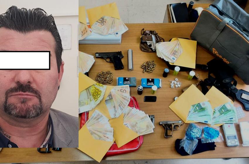 Scoperto arsenale dai Carabinieri di Pescara: 50enne arrestato anche con soldi e droga