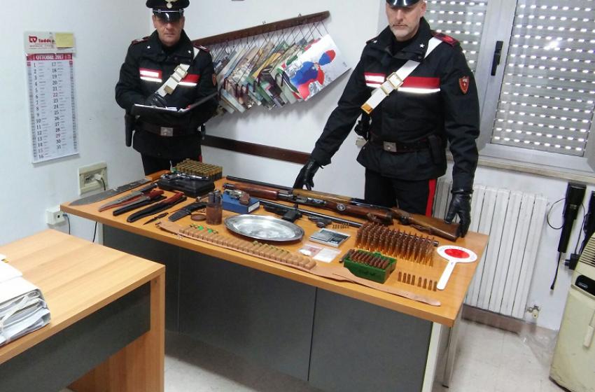 Armi e droga: 39enne pescarese incensurato arrestato dai Carabinieri