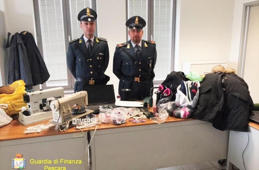 Sequestrati a Montesilvano 10mila articoli e capi griffati contraffatti. Valore 150mila euro