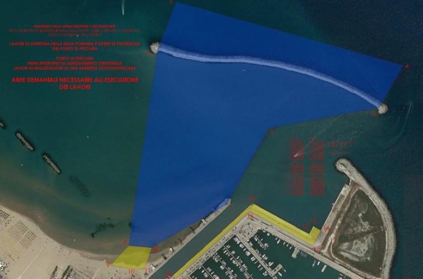 Annunciato inizio dei lavori alla diga foranea: ok al taglio e alla soffolta al Porto