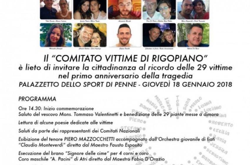 """""""Mai più un'altra Rigopiano"""", giovedì il primo anniversario della catastrofe"""
