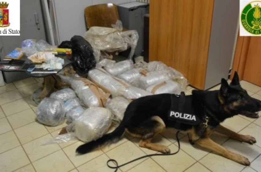 Sequestrati 30 Kg di droga: spacciatore albanese incensurato arrestato a Chieti