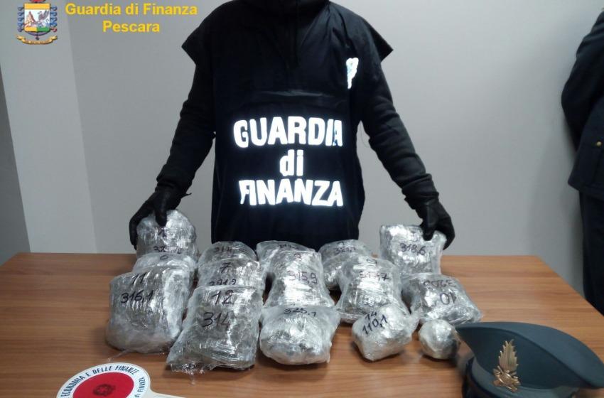 Blitz della Finanza contro il narcotraffico: arrestato albanese con 5 kg. di droga