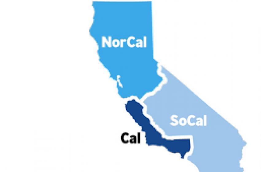 California in tre fette come la pizza