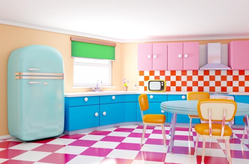 Frigoriferi di design per una cucina colorata