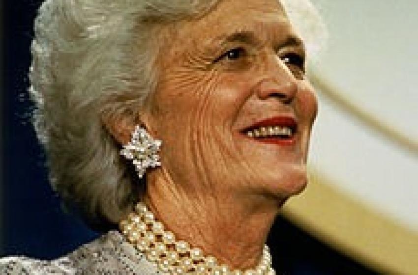 L'Italia incantava la First Lady Bush