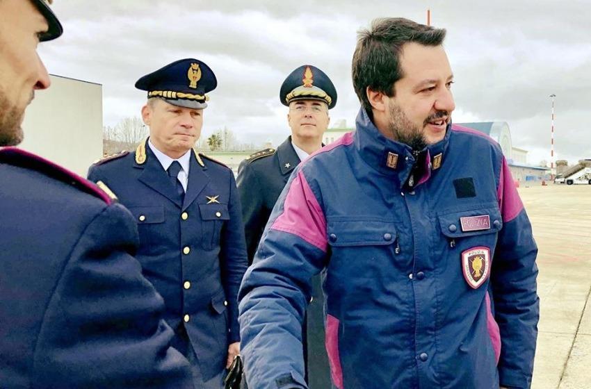 Il Ministro dell'Interno Matteo Salvini e' in Abruzzo per le regionali del 10 febbraio