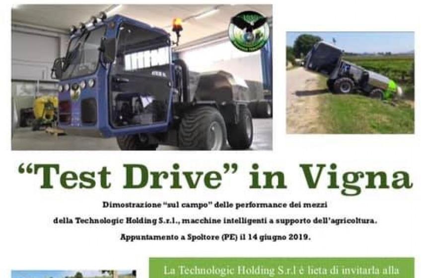 'Test drive' in vigna coi trattori della Technologic Holding