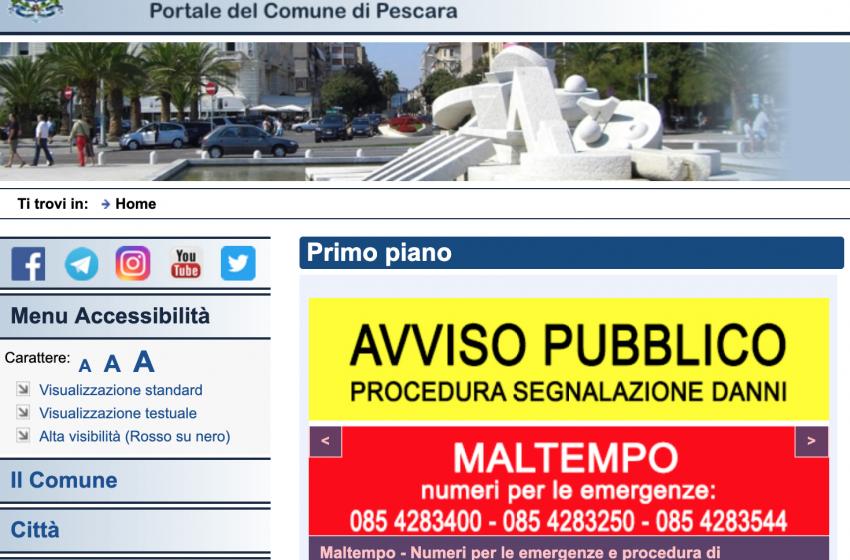 Disastri Maltempo - Sul sito del Comune spuntano i moduli per richiedere i danni