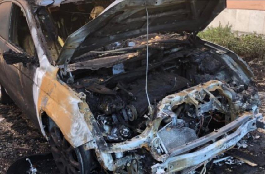 Sulmona: a fuoco l' automobile del giornalista Claudio Lattanzio