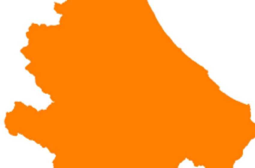 L'Abruzzo verso la zona arancione