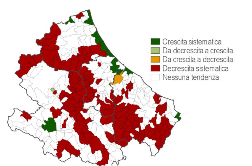 Istat: la popolazione in Abruzzo scende sotto 1,3 milioni. Cresce solo nel Pescarese
